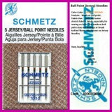 Schmetz Ballpoint (Jersey) Domestic Needle 130/705H-SUK HAx1 (Sold in packets of 5)