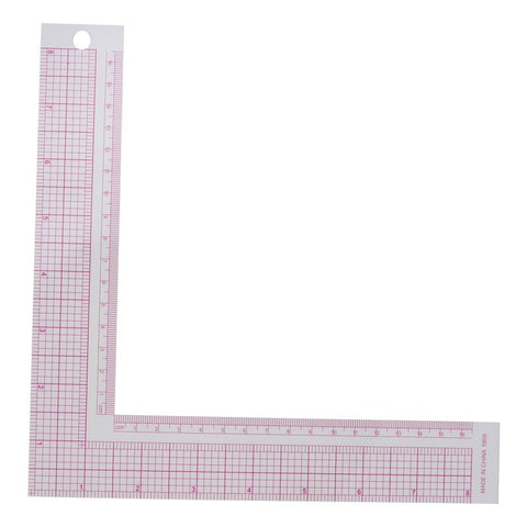Special Positioning Ruler PVC Metric Scales L-Shaped Square Ruler