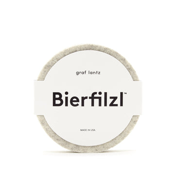 Bierfilzl Round Felt Coaster - Heather White