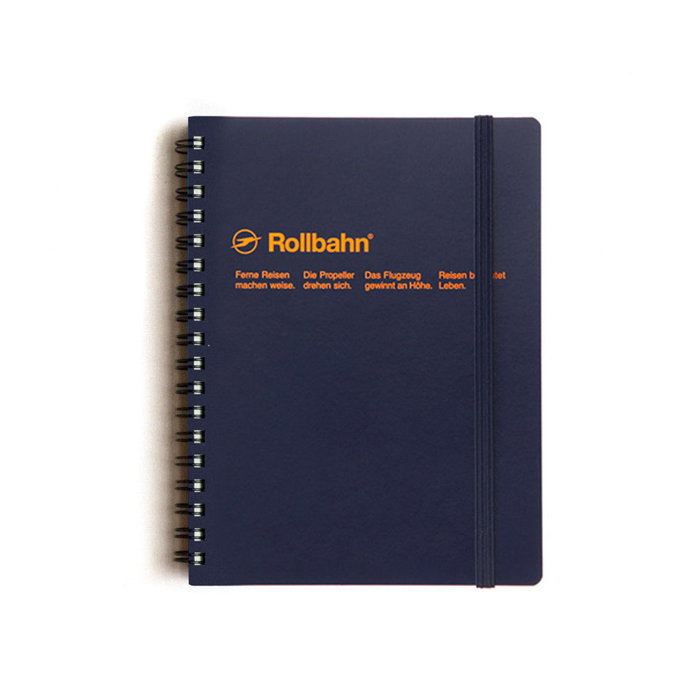Rollbahn Spiral Notebook - Dark Blue by Delfonics - Merchant of York
