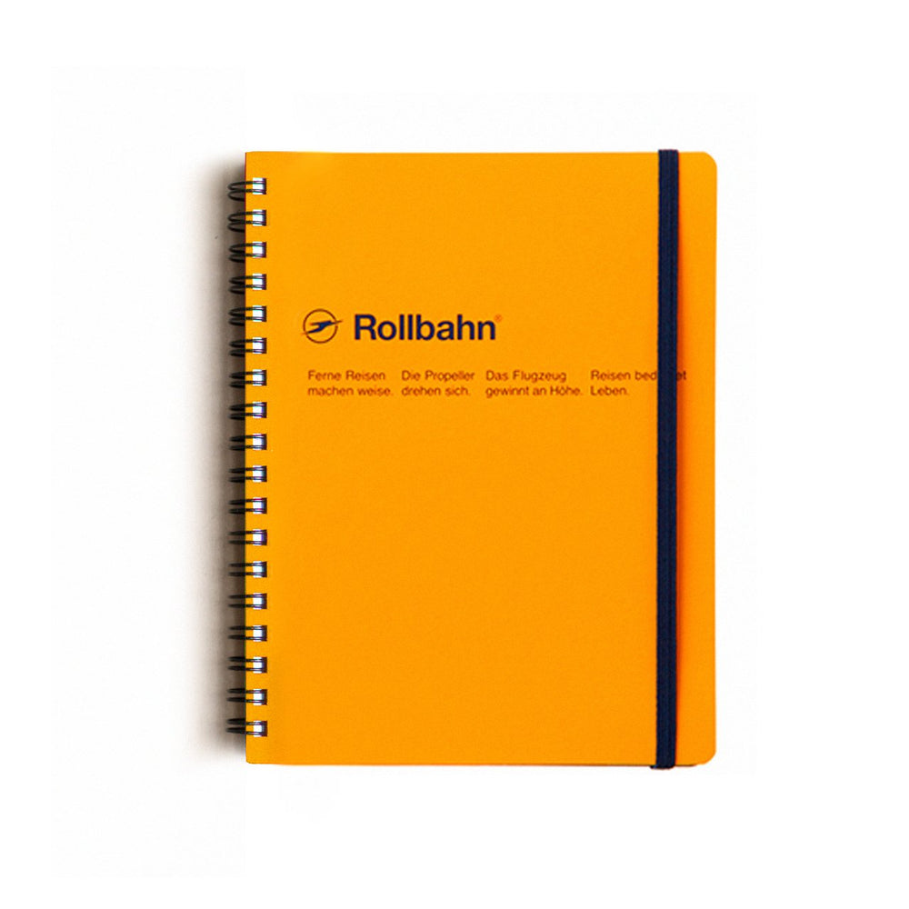 Rollbahn Spiral Notebook - Yellow by Delfonics - Merchant of York