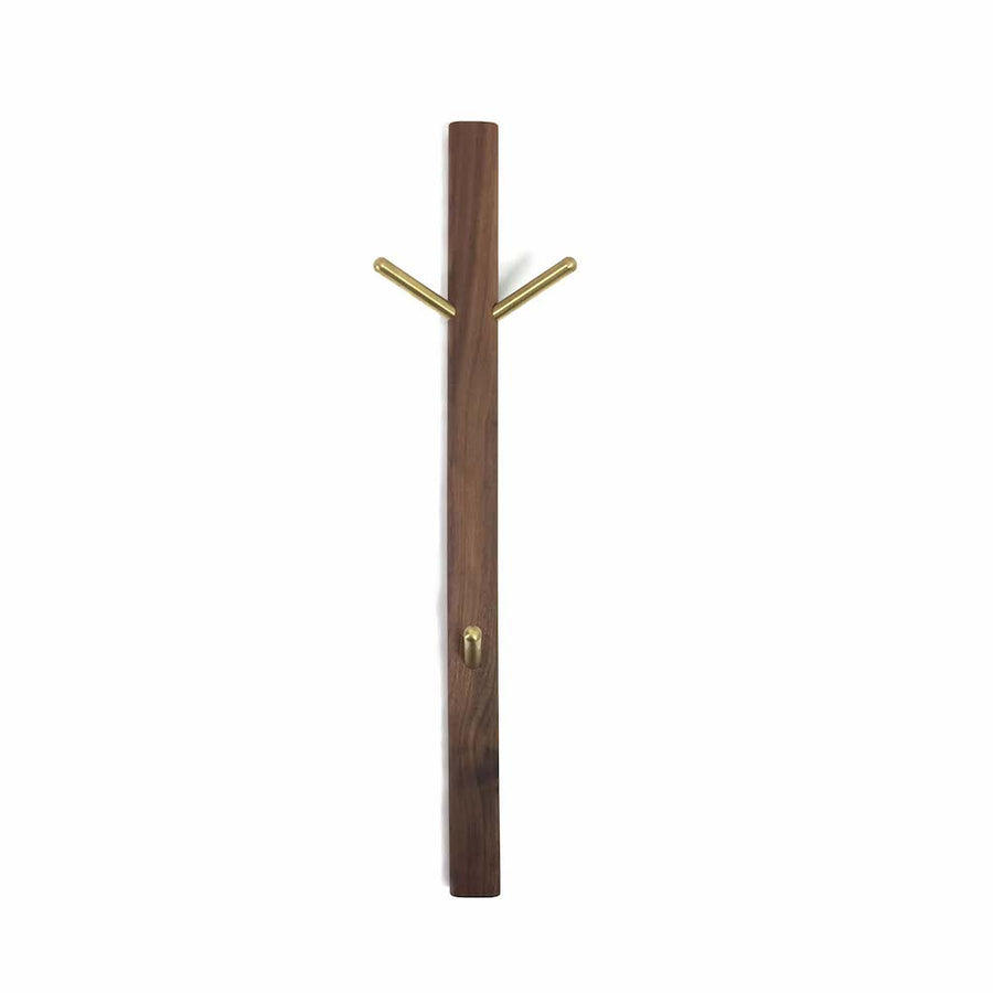 Three Piece Coat Hook - Walnut - Merchant of York
