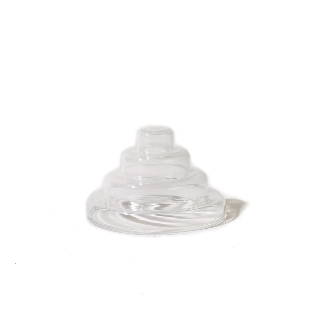 Glass Meso Incense Holder - Clear