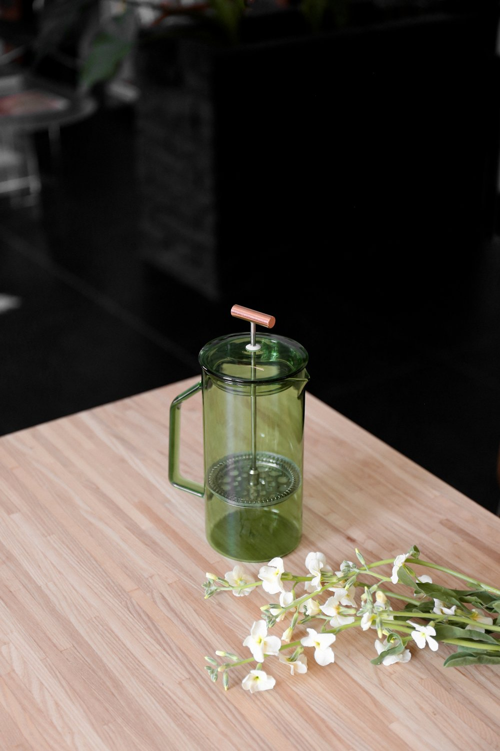French Press, 850ml Green