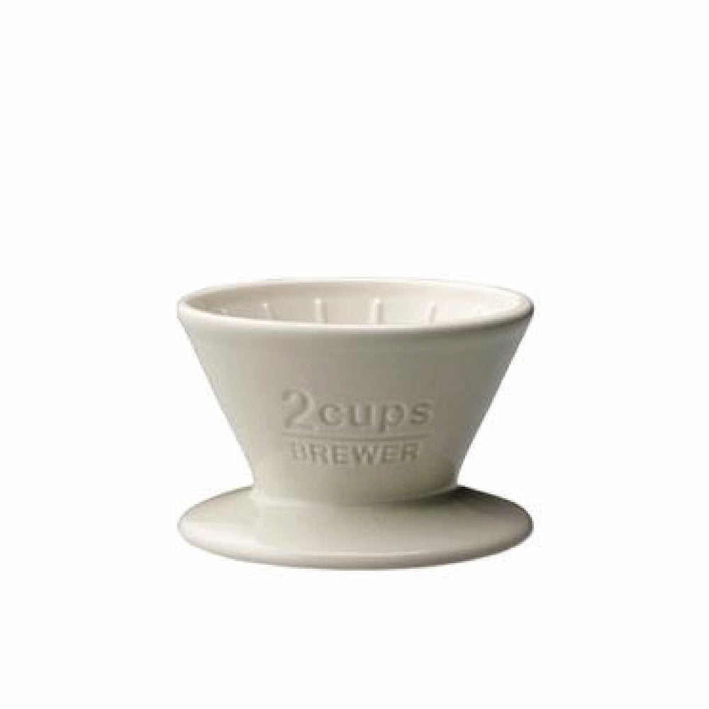 Porcelain Slow Coffee Style Brewer 2-Cup, White - Merchant of York