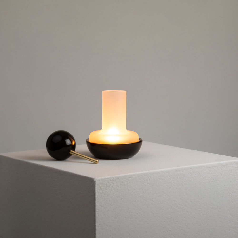 Quinqué Tealight Lamp - Black Marble by And Jacob - Merchant of York