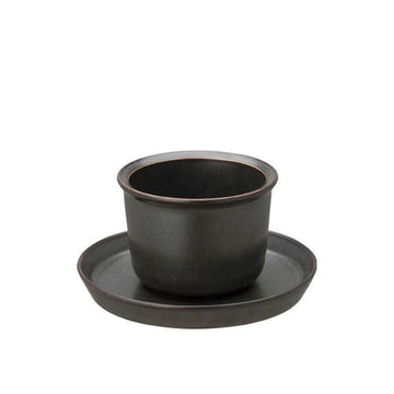 Cup & Saucer 160ml, Black by KINTO - Merchant of York