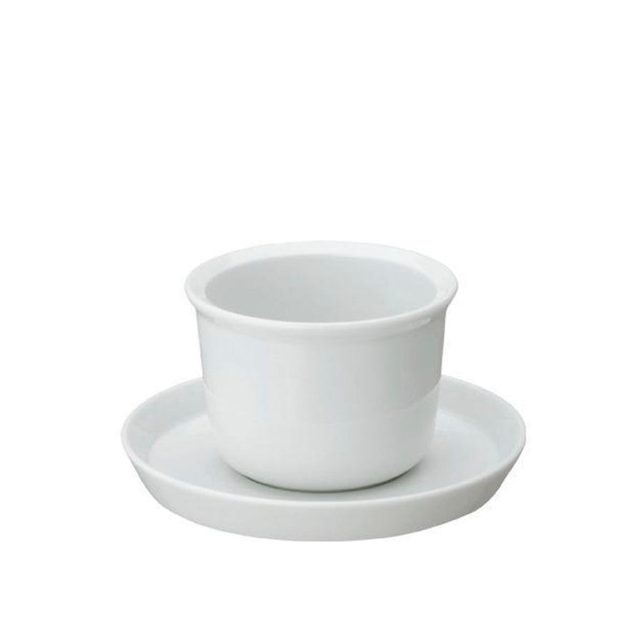 Cup & Saucer 160ml, White by KINTO - Merchant of York