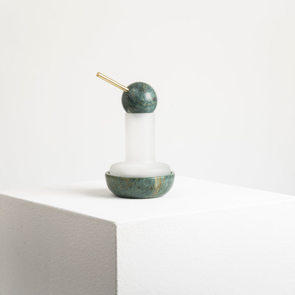 Quinqué Tealight Lamp - Green Marble by And Jacob - Merchant of York