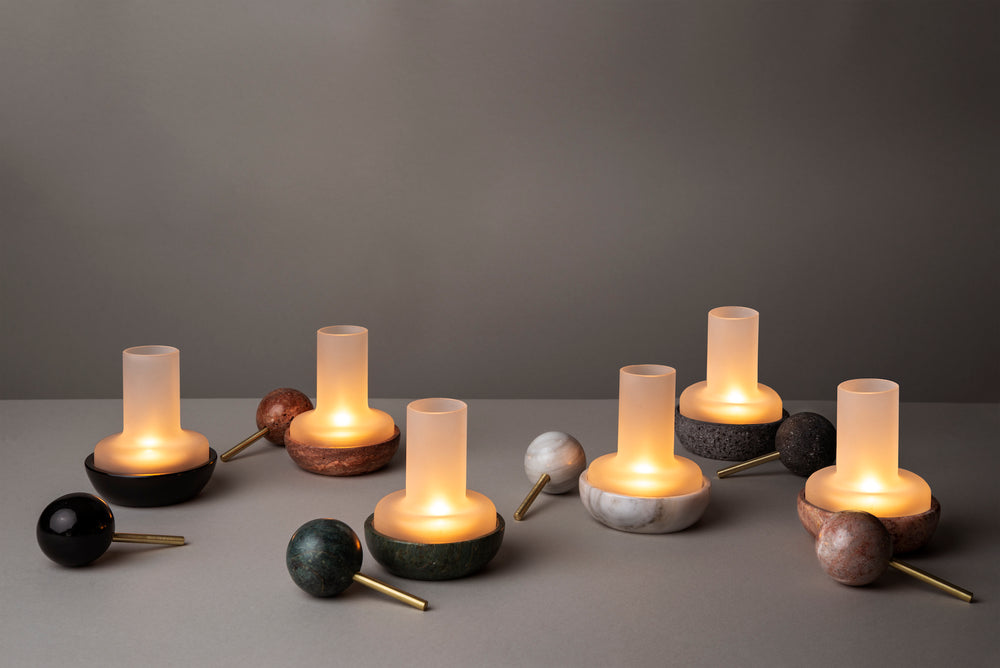 Quinqué Tealight Lamp - Black Marble by And Jacob - Merchant of York Toronto
