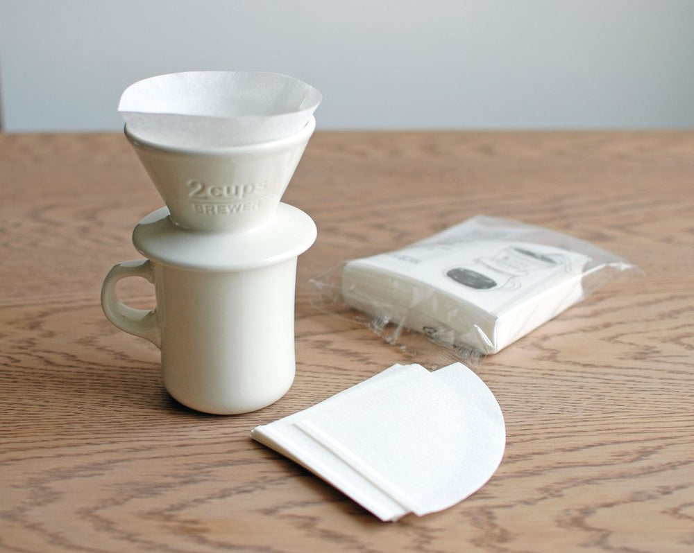 Porcelain Slow Coffee Style Brewer 2-Cup, White by Kinto - Merchant of York