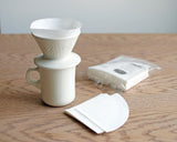 Porcelain Slow Coffee Style Brewer 2-Cup, White by Kinto - Merchant of York Toronto