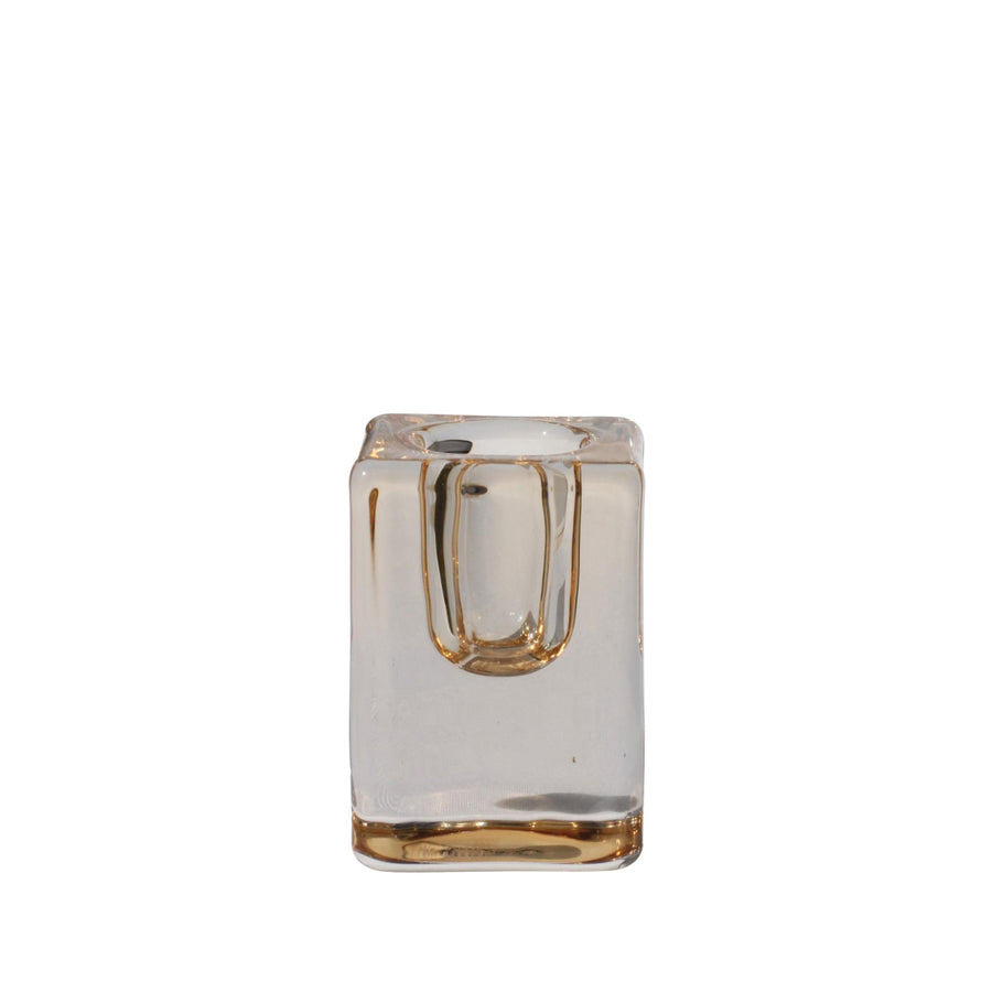 Glass Taper Candle Holder - Bronze