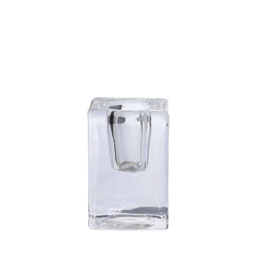 Glass Taper Candle Holder - Clear
