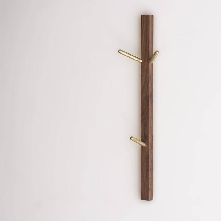 Three Piece Coat Hook - Walnut by Rekindle - Merchant of York Toronto
