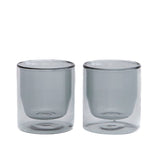 Double-Wall 6oz Glasses - Set of Two Grey by Yield - Merchant of York
