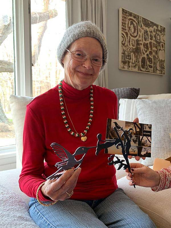 Grandma showing off her Metalbird