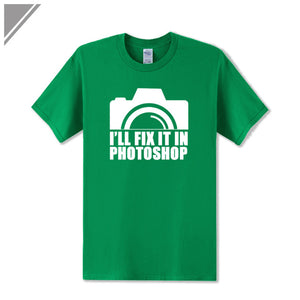 I'll Fix It In Photoshop Camera Print T Shirt