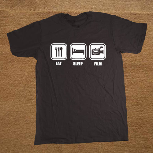 EAT SLEEP FILM TV Camera Man T Shirt
