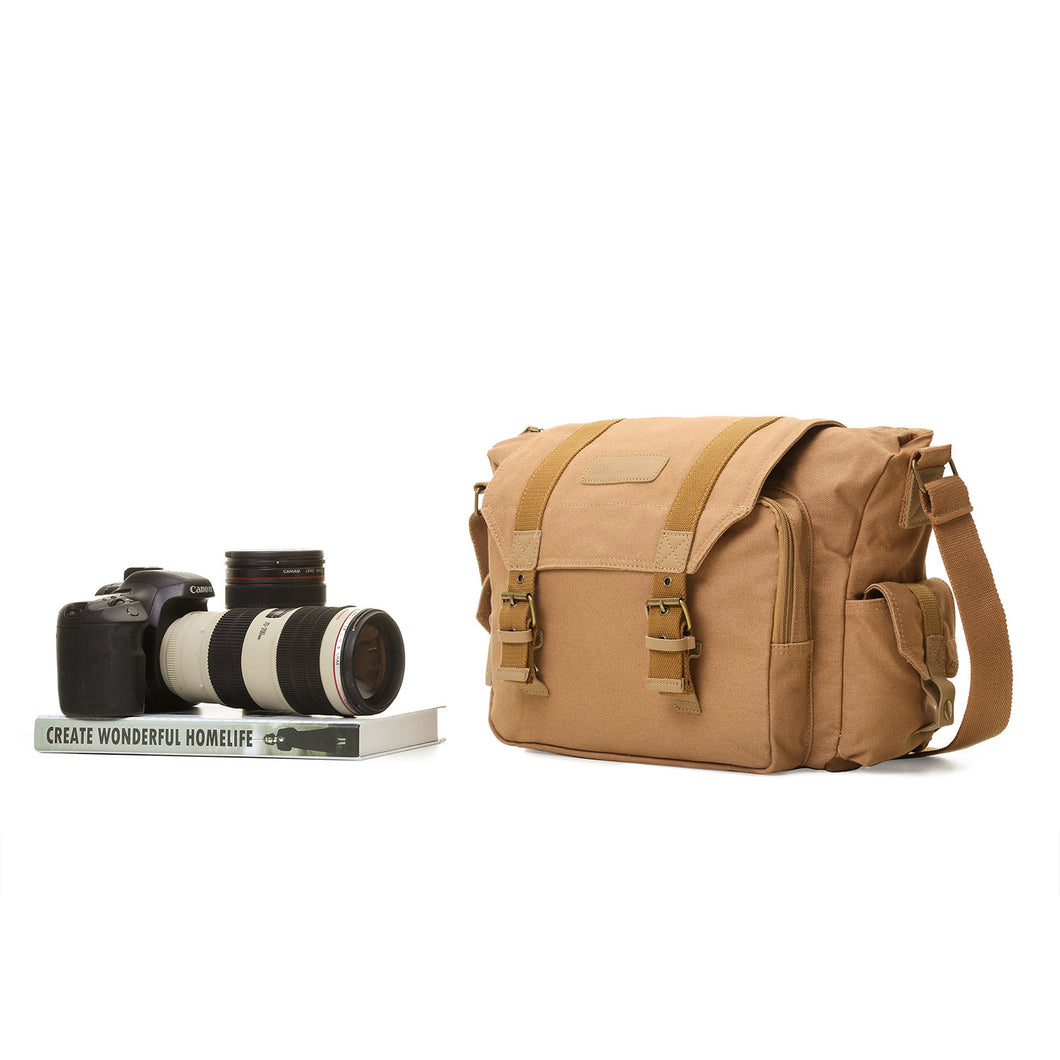 Canvas Camera Bag Shockproof Case DSLR Shoulder Bag