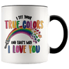 I See Your True Colors Autism Awareness Accent Mug Black - Tierra Bella