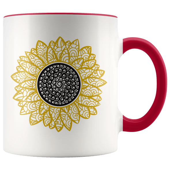 Sunflower Accent Mug Red - Tierra Bella
