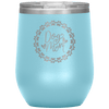 Dog Mom Wreath Stemless Wine Tumbler Light Blue - Tierra Bella