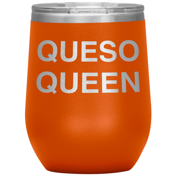 Queso Queen Stemless Wine Tumbler Orange - Tierra Bella