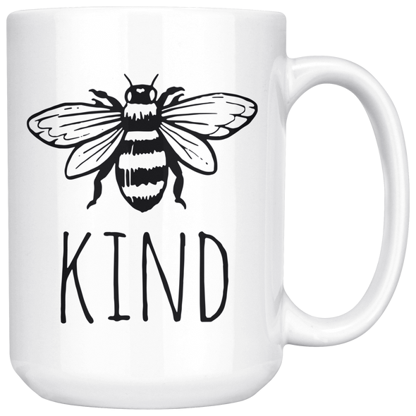 Bee Kind 15oz Mug White - Tierra Bella