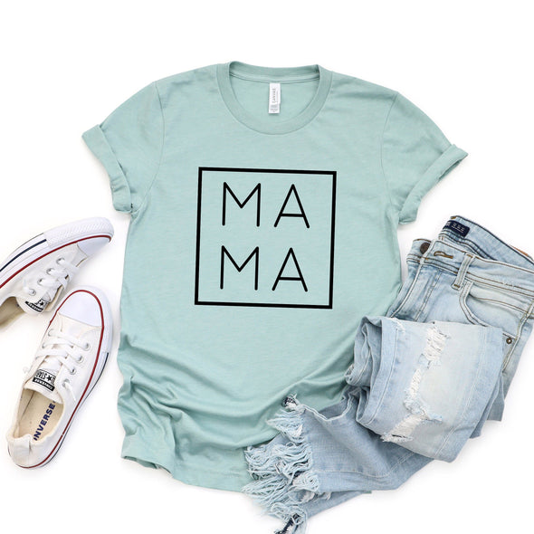 Mama Unisex Tee Heather Prism Dusty Blue XS - Tierra Bella
