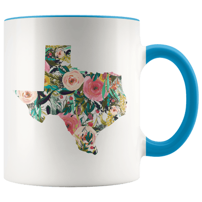 Floral Texas Accent Mug Blue - Tierra Bella