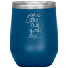 Just a Small Town Girl Stemless Wine Tumbler Blue - Tierra Bella