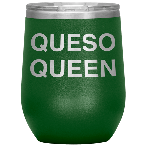 Queso Queen Stemless Wine Tumbler Green - Tierra Bella