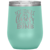 Not Fragile Like a Flower Fragile Like a Bomb Stemless Wine Tumbler Teal - Tierra Bella