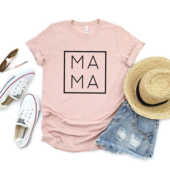 Mama Unisex Tee Heather Prism Peach XS - Tierra Bella
