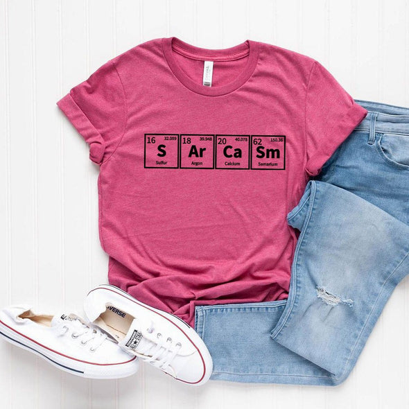 Sarcasm Periodic Table Tee Heather Berry XS - Tierra Bella