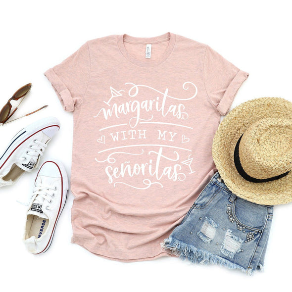 Margaritas With My Senoritas Unisex Tee Heather Prism Peach XS - Tierra Bella