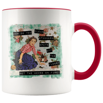 Set the House on Fire Accent Mug Red - Tierra Bella