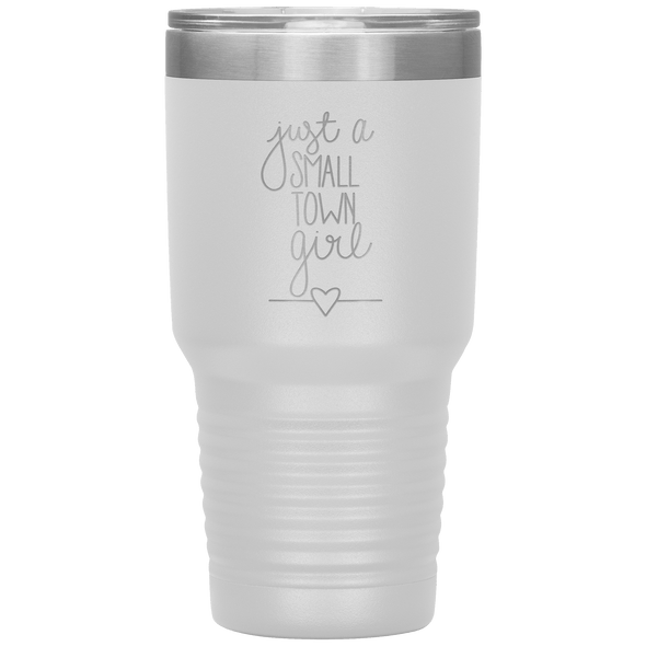 Just a Small Town Girl 30oz Tumbler White - Tierra Bella