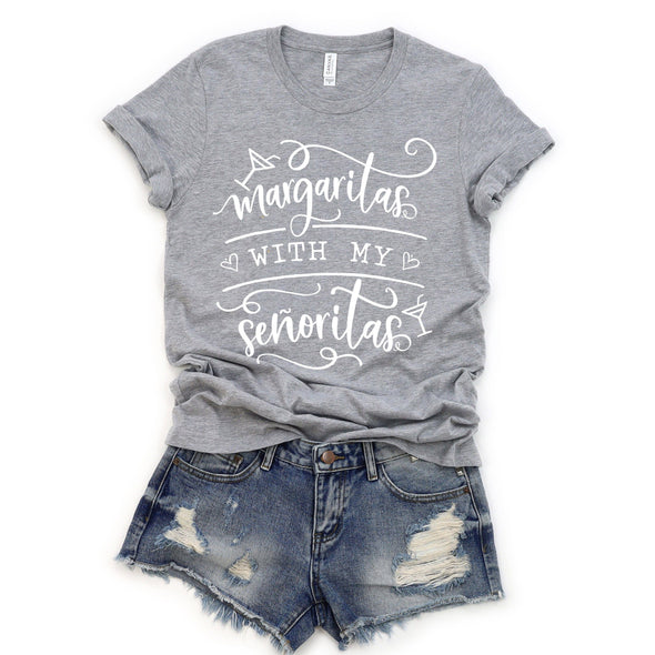 Margaritas With My Senoritas Unisex Tee Athletic Heather S - Tierra Bella