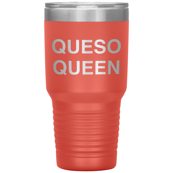 Queso Queen 30oz Tumbler Coral - Tierra Bella