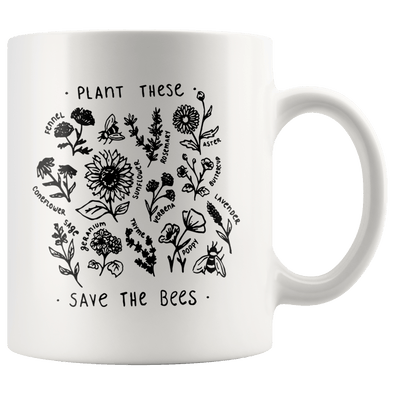 Plant These Save the Bees Accent Mug - Tierra Bella