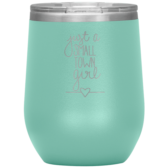 Just a Small Town Girl Stemless Wine Tumbler Teal - Tierra Bella
