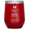 Rise and Shine Mother Cluckers Stemless Wine Tumbler Red - Tierra Bella