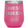 Queso Queen Stemless Wine Tumbler Pink - Tierra Bella