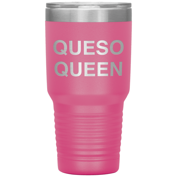 Queso Queen 30oz Tumbler Pink - Tierra Bella