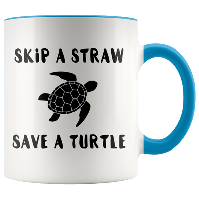 Skip a Straw Save a Turtle Accent Mug - Tierra Bella