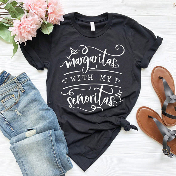 Margaritas With My Senoritas Unisex Tee Black XS - Tierra Bella