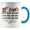 I'll Be Watching You Dog Mom Accent Mug Blue - Tierra Bella