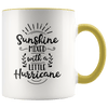 Sunshine Mixed With a Little Hurricane Accent Mug Yellow - Tierra Bella